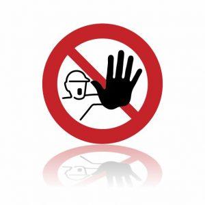 Pictogram Verboden voor onbevoegden sticker