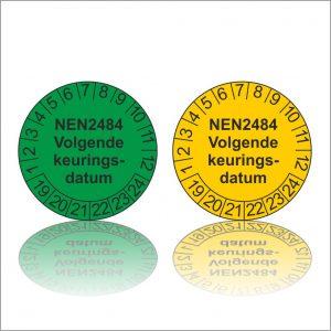 Keuringssticker NEN 2484 volgende keuringsdatum