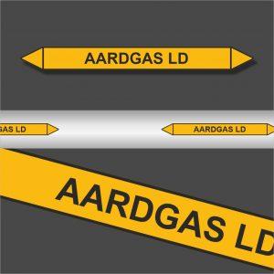 Leidingstickers Leidingmarkering Aardgas LD (Gassen)