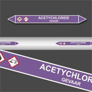 Leidingstickers Leidingmarkering Acetychloride (Basen)