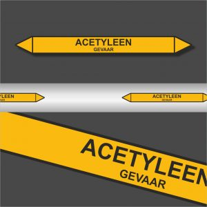 Leidingstickers Leidingmarkering Acetyleen (Gassen)
