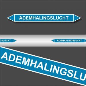 Leidingstickers Leidingmarkering Ademhalingslucht (Lucht)