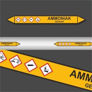 Leidingstickers Leidingmarkering Ammoniak (Gassen)