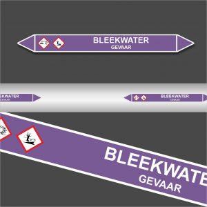 Leidingstickers Leidingmarkering Bleekwater (Basen)