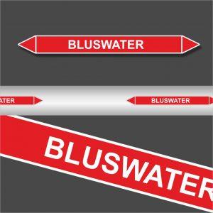 Leidingstickers Leidingmarkering Bluswater (Blusleidingen)