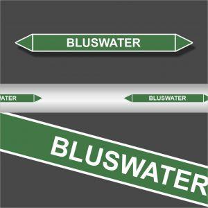 Leidingstickers Leidingmarkering Bluswater (Water)