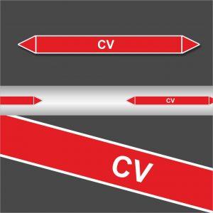 Leidingstickers Leidingmarkering CV (Blusleidingen)