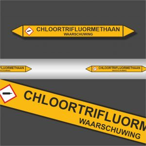 Leidingstickers Leidingmarkering Chloortrifluormethaan (Gassen)