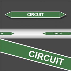 Leidingstickers Leidingmarkering Circuit (Water)