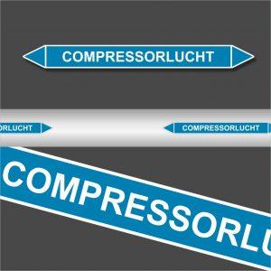 Leidingstickers Leidingmarkering Compressorlucht (Lucht)