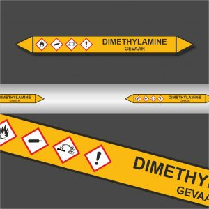 Leidingstickers Leidingmarkering Dimethylamine (Gassen)
