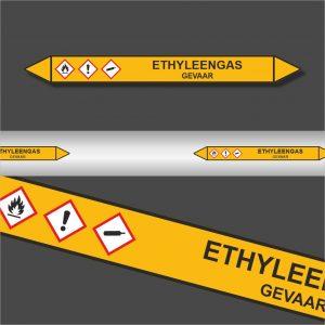 Leidingstickers Leidingmarkering Ethyleengas (Gassen)