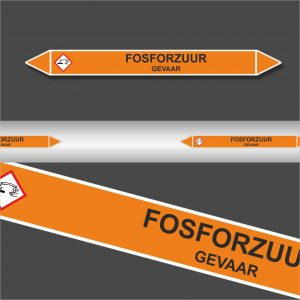 Leidingstickers Leidingmarkering Fosforzuur (Zuren)
