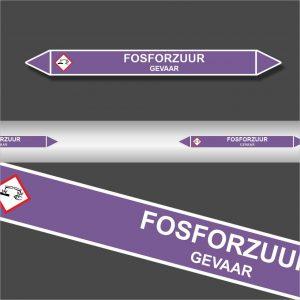 Leidingstickers Leidingmarkering Fosforzuur (Basen)