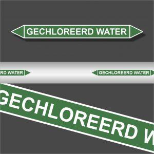 Leidingstickers Leidingmarkering Gechloreerd water (Water)