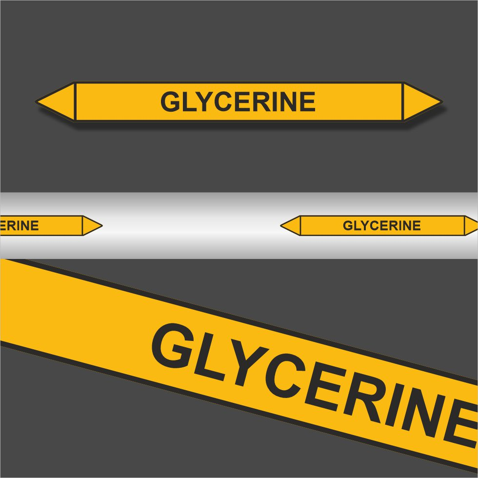 Leidingstickers Leidingmarkering Glycerine (Gassen)