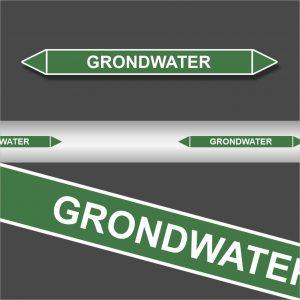 Leidingstickers Leidingmarkering Grondwater (Water)
