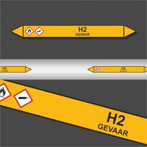 Leidingstickers Leidingmarkering H2 (Gassen)