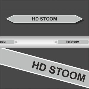 Leidingstickers Leidingmarkering HD Stoom (Stoom)