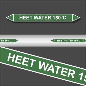 Leidingstickers Leidingmarkering Heet water 150 Graden (Water)