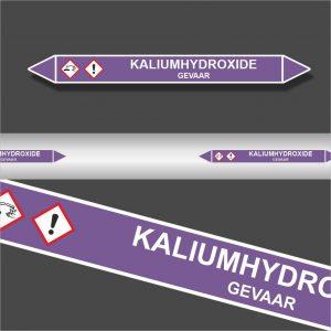 Leidingstickers Leidingmarkering Kaliumhydroxide (Basen)