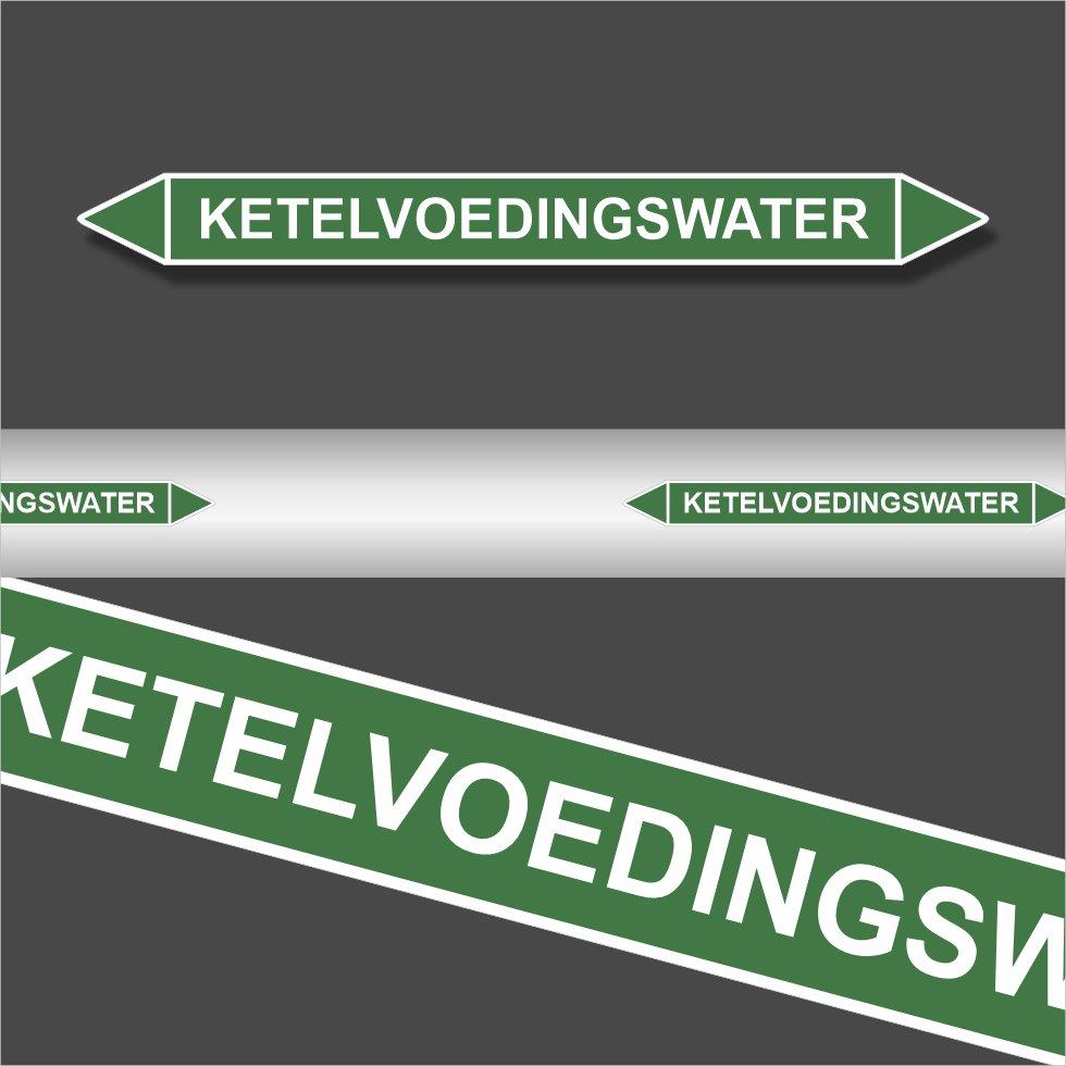 Leidingstickers Leidingmarkering Ketelvoedingswater (Water)