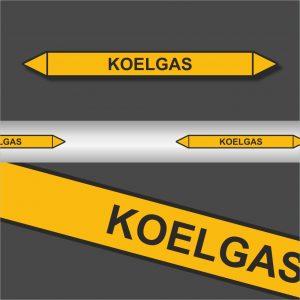 Leidingstickers Leidingmarkering Koelgas (Gassen)
