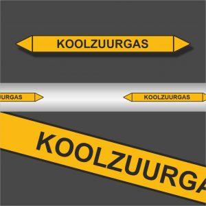 Leidingstickers Leidingmarkering Koolzuurgas (Gassen)