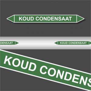 Leidingstickers Leidingmarkering Koud condensaat (Water)