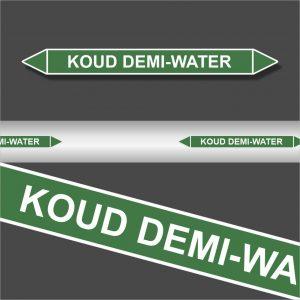 Leidingstickers Leidingmarkering Koud demi-water (Water)