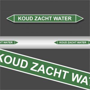 Leidingstickers Leidingmarkering Koud zacht water (Water)