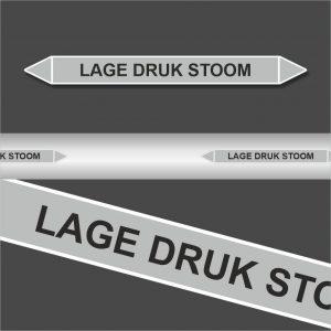 Leidingstickers Leidingmarkering Lage Druk Stoom (Stoom)