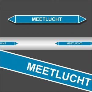 Leidingstickers Leidingmarkering Meetlucht (Lucht)