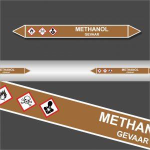 Leidingstickers Leidingmarkering Methanol (Ontvlambare vloeistoffen)