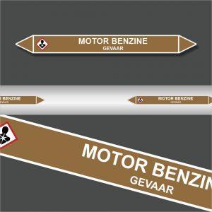 Leidingstickers Leidingmarkering Motor Benzine (Ontvlambare vloeistoffen)
