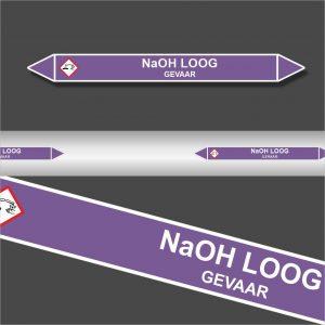 Leidingstickers Leidingmarkering NaOH Loog (Basen)