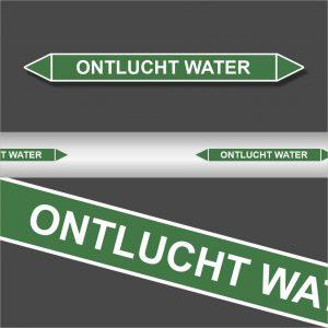 Leidingstickers Leidingmarkering Ontlucht water (Water)