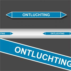 Leidingstickers Leidingmarkering Ontluchting (Lucht)