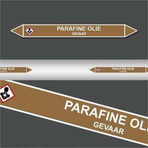 Leidingstickers Leidingmarkering Parafine Olie (Ontvlambare vloeistoffen)