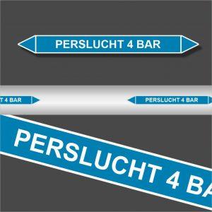 Leidingstickers Leidingmarkering Perslucht 4 BAR (Lucht)