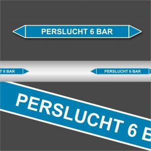 Leidingstickers Leidingmarkering Perslucht 6 BAR (Lucht)