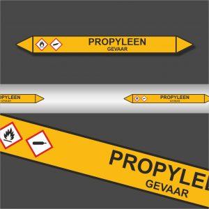 Leidingstickers Leidingmarkering Propyleen (Gassen)