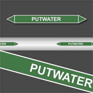 Leidingstickers Leidingmarkering Putwater (Water)