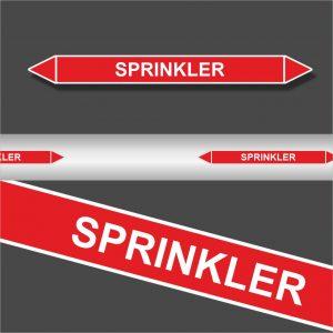Leidingstickers Leidingmarkering Sprinkler (Blusleidingen)