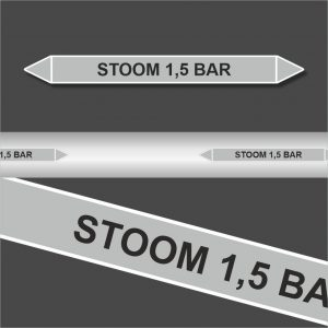 Leidingstickers Leidingmarkering Stoom 1.5 BAR (Stoom)