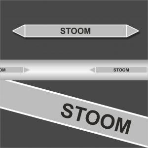 Leidingstickers Leidingmarkering Stoom (Stoom)