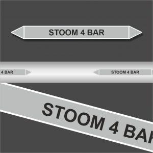 Leidingstickers Leidingmarkering Stoom 4 BAR (Stoom)