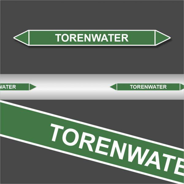 Leidingstickers Leidingmarkering Torenwater (Water)
