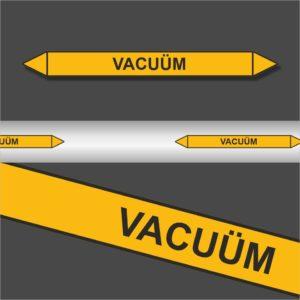 Leidingstickers Leidingmarkering Vacuüm (Gassen)