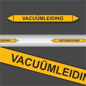 Leidingstickers Leidingmarkering Vacuümleiding (Gassen)